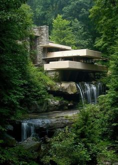 Frank Lloyd Wright's Fallingwater in the Pennsylvania's Laurel Highlands