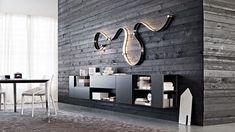 Comfy Apartment Living Room Designs Ideas Trends 2018 - Page 39 of 44 Living Room Trends, Living Room Designs, Living Room Decor, Contemporary Dining Room Furniture, Furniture Design, Home Interior, Interior Design, Wall Storage Systems, Design Trends 2018