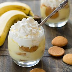 Banana Pudding With Half & Half, Whole Milk, Sugar, Salt, Egg Yolks, Corn Starch, Butter, Vanilla Extract, Nilla Wafers, Bananas, Heavy Cream