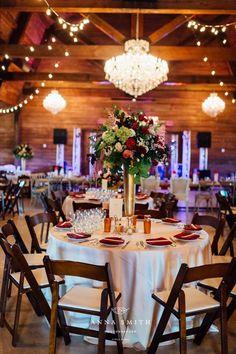 The Milestone | Walters Wedding Estates | Barn | Dallas Wedding Venue | Aubrey | Centerpieces | Rustic | Wedding Day | Reception | Chandelier | Flowers
