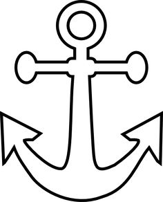 Small Anchor Outline clip art