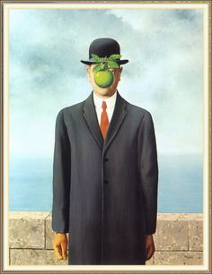 son of man 1964 / artist you should know / rene magritte at the moma / reality and retrospect