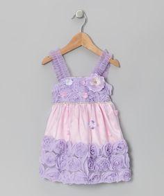 Lavender Violet Princess Flower Dress - Infant, Toddler & Girls by Le Pink #zulily #zulilyfinds