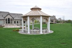 The Victorian Gazebo is one of our customers' favourite designs. Such a lovely place for a morning coffee or a sparkling champagne at night. Screened Gazebo, Pergola, Backyard Gazebo, Gazebo Plans, Western Red Cedar, Cabin Plans, Building Plans, Perfect Place, Victorian