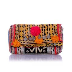 Handmade in India from embroidered Rabari fabric, this beautiful Atlas Wallet will add some royal allure to your look