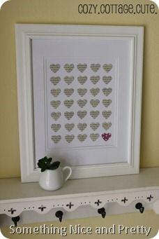 Heart Punch Valentine's Day Art - Version I Valentines Day Decorations, Valentine Crafts, Happy Valentines Day, Holiday Crafts, Crafts To Do, Diy Crafts, Book Page Crafts, Craft Punches, Heart Wall