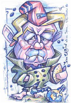 Jean Gabin alias Jean Valjean; pen, color pencils, 2020 Jean Valjean, Colored Pencils, Color Crayons, Colouring Pencils, Paint Colors, Crayons