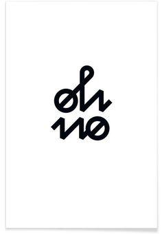 Oh No en Affiche premium par BLAEK Design Studio | JUNIQE