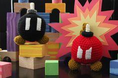 ba bomb stuffed toy - crochet - super mario - nintendo. $20.00, via Etsy.