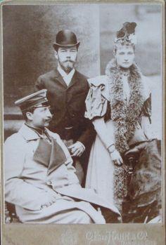emperor nicholas II, empress alexandra & emperor wilhelm II