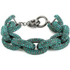 BaubleBar Emerald Pave Links Bracelet ($78) ❤ liked on Polyvore