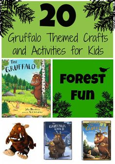 Gruffalo Themed Crafts and Activities for Kids Toddler Approved!: 20 Gruffalo Themed Crafts and Activities for KidsToddler Approved!: 20 Gruffalo Themed Crafts and Activities for Kids Gruffalo Activities, Gruffalo Party, The Gruffalo, Autumn Activities, Literacy Activities, Toddler Activities, Party Activities, Gruffalo's Child, Forest School