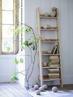 Interieurtrends | De decoratieve houten ladder • Stijlvol Styling - WoonblogStijlvol Styling – Woonblog