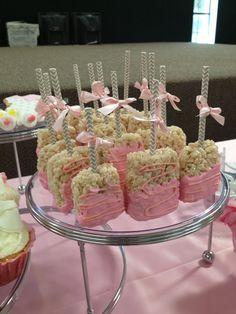 pink rice krispie treats - Bing Images