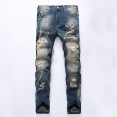 Casual Slim Ripped Jeans