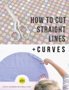 Best Tricks! How to Cut Straight Lines and Curves | Video from MADE Everyday with Dana