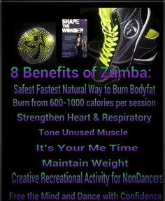 8 benefits of Zumba.