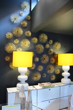 Creative Wall Decor with Gold Sea Urchins
