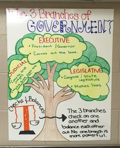 The three branches of government 3rd grade social studies unit 3 branches of government anchor chart ccuart Images
