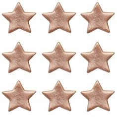 Rose Gold Stars Sugar Toppers - Cake Decorating Supplies (Pack of Sugar Decorations For Cakes, Fuchsia Flower, Sugar Cake, Gold Cake, Cake Decorating Supplies, Pink Blossom, Gold Stars, Sugar Skull, Allergies