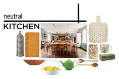 """""""Neutral Kitchen"""" by beatricemalacarne ❤ liked on Polyvore featuring interior, interiors, interior design, home, home decor, interior decorating, LSA International, Bloomingville, Bahari and Kate Spade"""