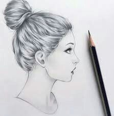 Side View Of A Girl