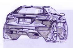 Mercedes-Benz GLA Design Sketch