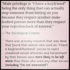 Interesting example of male privledge