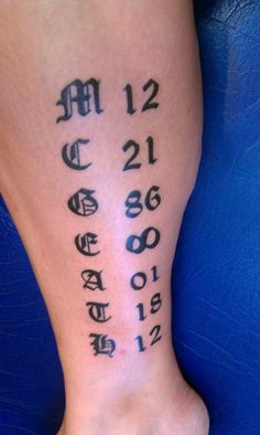 My latest, memorial tattoo for my brother, who was KIA January 18, 2012.  #memorial #KIA #Marines