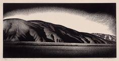 """Coachella Valley"" - Paul Landacre - Wood Engraving - 1930's (?)"