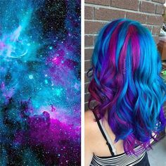 Blue and purple, create your favorite Galaxy Hair style