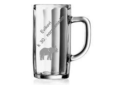 gravírovaný pohár so slonom - darček pre frajerku