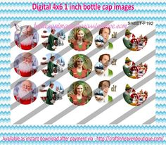 """1"""" Bottle Caps (4X6) F192 elf movie celebrities bottle cap images #celebrities #bottlecap #BCI #shrinkydinkimages #bowcenters #hairbows #bowmaking #ironon #printables #printyourself #digitaltransfer #doityourself #transfer #ribbongraphics #ribbon #shirtprint #tshirt #digitalart #diy #digital #graphicdesign please purchase via link http://craftinheavenboutique.com/index.php?main_page=index&cPath=323_533_42_60"""