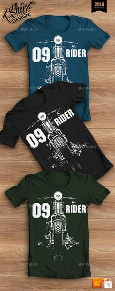 T-shirt Design Moto Rider Illustration Template Vector EPS, AI. Download here: http://graphicriver.net/item/tshirt-design-moto-rider/14350682?ref=ksioks