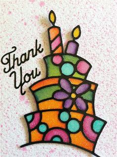 Just took a class on coloring glitter with Elizabeth Craft peel-off stickers. Awesome stained glass effect. So easy! Got these cake stickers to make some birthday cards. Elizabeth Craft Designs, Handmade Birthday Cards, Greeting Cards Handmade, Crafts For Seniors, Craft Stickers, Glitter Cards, Beautiful Handmade Cards, Space Crafts, Design Crafts