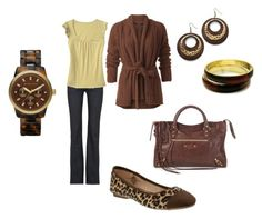 """""""Fall"""" by jenniebel ❤ liked on Polyvore featuring Citizens of Humanity, Old Navy, Balenciaga, Color craze, Fantasy Jewelry Box and MICHAEL Michael Kors"""
