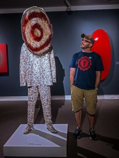 "Checking out ""Soundsuit"" by American artist Nick Cave (no relation to the Bad Seeds) at the Norton Museum of Art in West Palm Beach, Florida..."