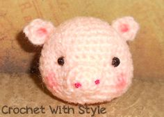 Tumbles Pig Free Amigurumi Pattern  PDF File : http://crochetwithstyle.com/wp-content/uploads/2013/11/tumbles-pig-pattern.pdf