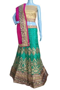 ‪#‎BuyNow‬ Rama Heavy Zari Thread Work Wedding Semi-Stitch Lehenga Choli With Blouse only at Lalgulal.com. ‪#‎Price‬ :- 6291/- inr. To ‪#‎Order‬ :- http://goo.gl/UXuIo2 To Order you Call or ‪#‎Whatsapp‬ us on +91-95121-50402 COD & Free Shipping Available only in India.