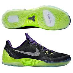 new arrival 65790 9cdeb Nike Mens Zoom Kobe Venomenon 5, BLACK  METALLIC SILVER- COURT PURPLE-VOLT,  12 M US