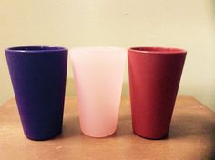 Unbreakable Silicone pint Cups in 3 colors. Microwave safe, BPA Free, oven safe and freezer safe! Perfect for camping, glamping, tailgating and porch sitting! 16 Ounce pint size