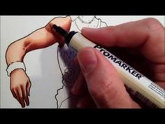 Blending Skin colours with Promarkers tutorial - Julius Erving - YouTube