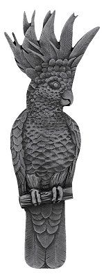 Notting Hill - Cockatoo Pull Antique Pewter (Vertical - Left side)