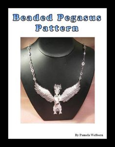 Pegasus Necklace Bead Pattern Chart INSTANT DOWNLOAD by Violetbead