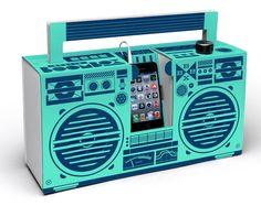 Berlin Boombox mobile cardboard speaker. Studio Axel Pfaender.