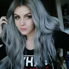 Grey hair, gray hair, silver hair, pastel hair, Pure gray hair color shown by real girls, the effect is amazing
