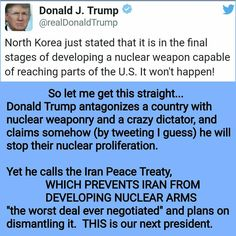 This sociopath is inciting WWIII. #donaldtrump #incompetent #crybabyelect #egomaniac #Twitler #kimjongun #northkorea #China #iran #nevertrump #notmypresident