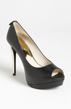 Bought these sexy shoes today...MICHAEL Michael Kors 'Josie Peep' Pump available at #Nordstrom
