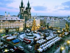 Image detail for -Christmas Market, Old Town Square, Prague, Czech Republic