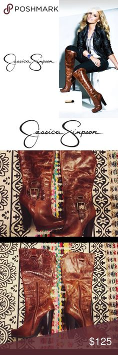 Jessica Simpson tan knee high boots size 6 Jessica Simpson tan knee high boots size 6! Only worn a couple of times! Excellent condition! Jessica Simpson Shoes Heeled Boots